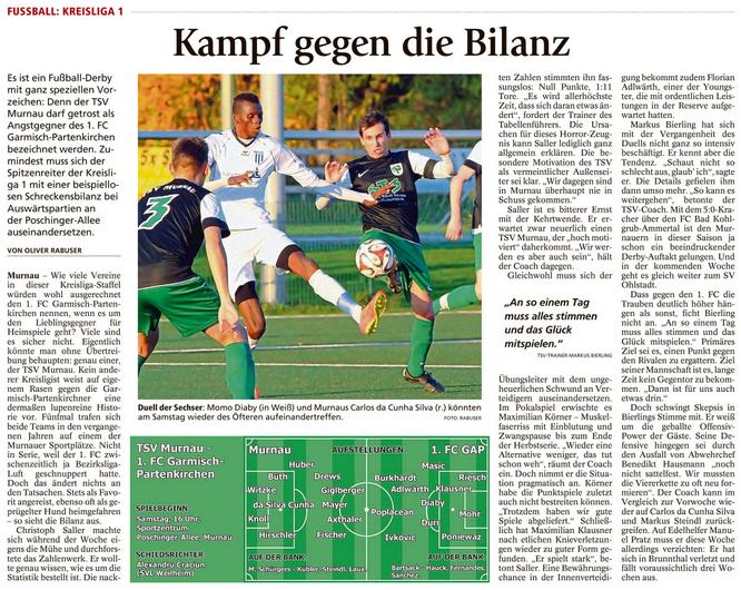 Ga-Pa Tagblatt vom 08.10.2016