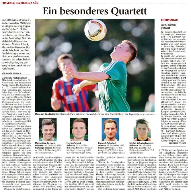 Garmischer Tagblatt vom 07.06.2017