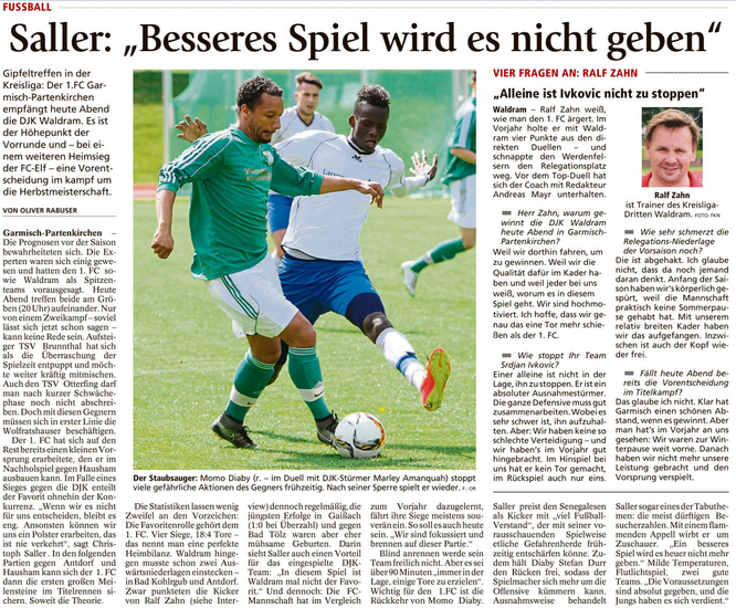 Ga-Pa Tagblatt vom 25.10.2016