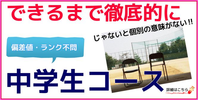 小樽市の学習塾・中学生個別指導コース