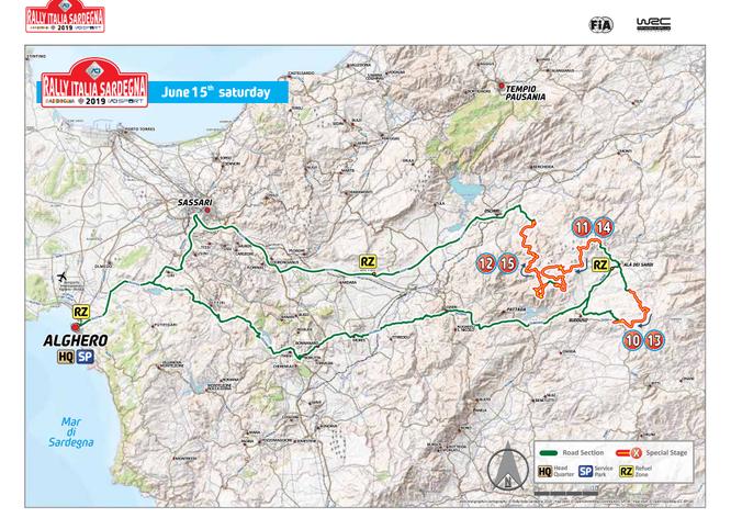 Percorso rally Alghero pianta 2019 Sardegna giorno 15