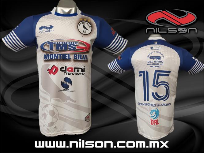 jersey futbol soccer sublimacion digital mod. transportes salamanca nilson ropa deportiva