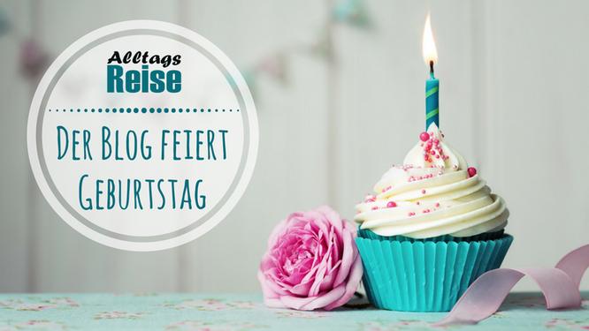 Mein Blog feiert Geburtstag - mit einem Cupcake mit Kerze