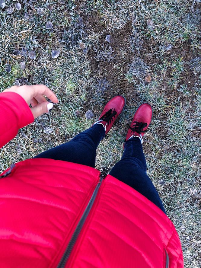 Es war kalt! KALT! Bin so froh, habe ich eins meiner wärmsten Schuhen-Paar eingepackt!