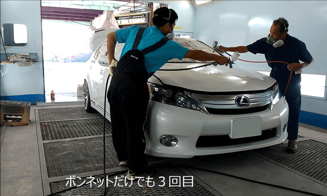 車 コーティング 比較 島根県松江市 カートピア石橋のクオーツ・ガラスコーティングの施工事例