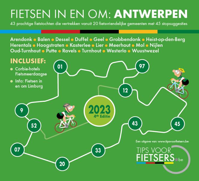 Tips voor Fietsers - Fietsen in en om: Antwerpse Kempen 2021 - Dé gratis fietsgids