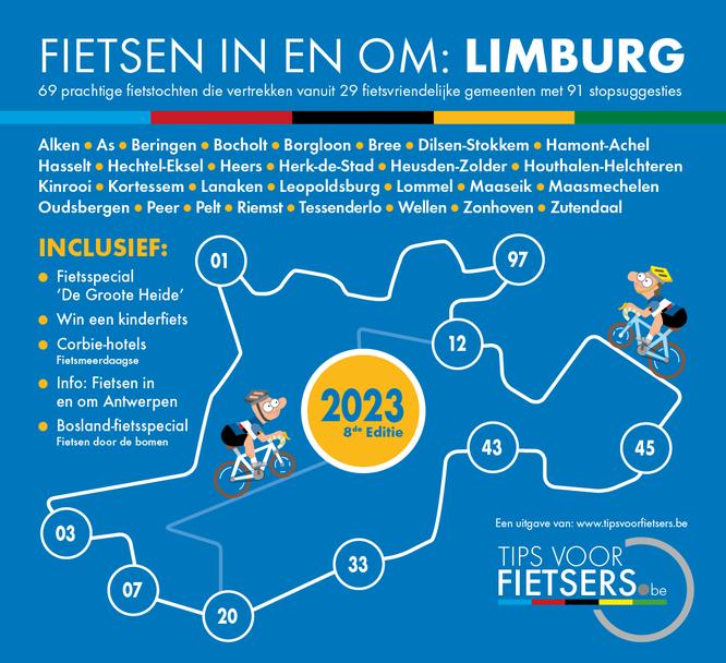 Tips voor Fietsers - Fietsen in en om: Limburg 2021 - Dé gratis fietsgids
