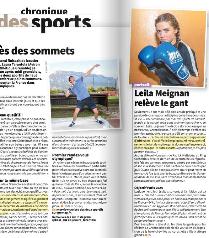 Dans le magazine de la ville de Grenoble de janvier 2020