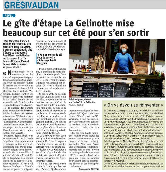 La situation de la Gélinotte dans le Dauphiné Libéré.