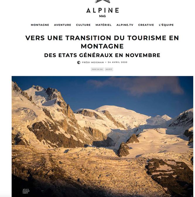 La tribune publiée ce matin dans Alpine Mag; Merci à eux. Voir le billet ci-dessus. Photo Jocelyn Chavy.