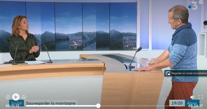 Montagne, tourisme, stations, covid, climat... Regarder ce qui se passe pour anticiper l'avenir proche. Frédi Meignan au JT de France 3 Alpes (12 janvier à partir de la 11ème minute))