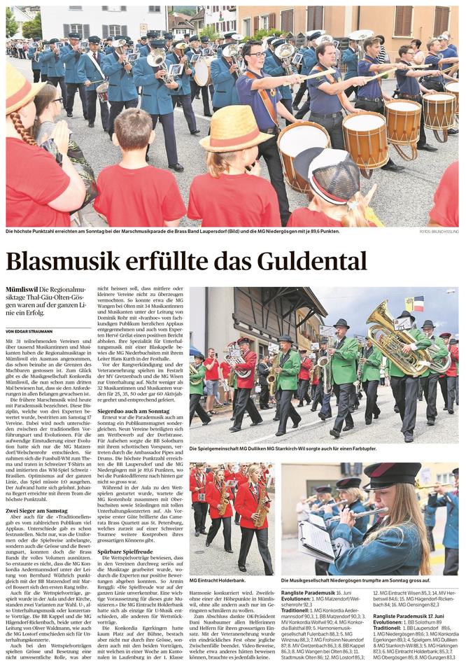 Oltner Tagblatt, 18.6.2018, S. 19