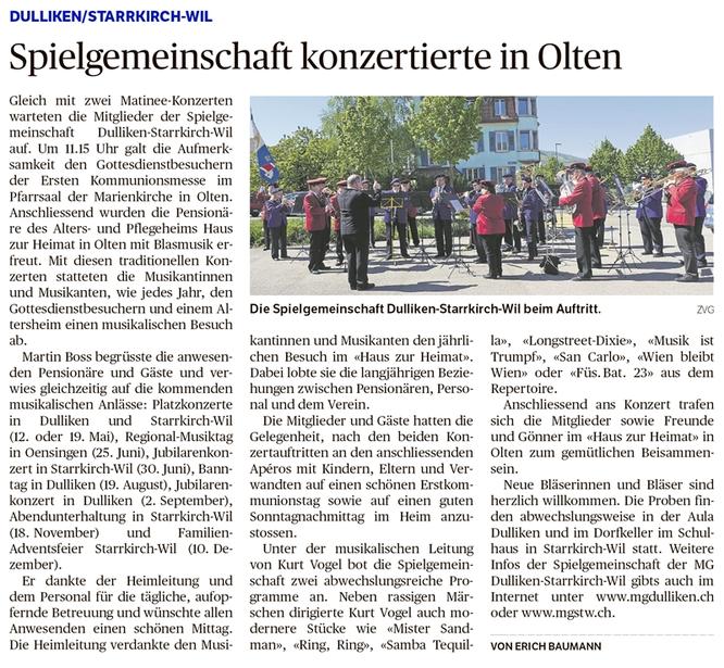 Oltner Tagblatt, 12.5.2017, S. 31