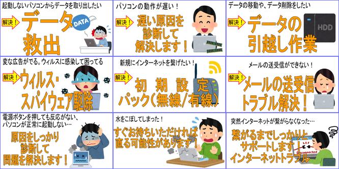 ウィルス駆除 データ救出 無線接続 墨田区 曳舟 修理