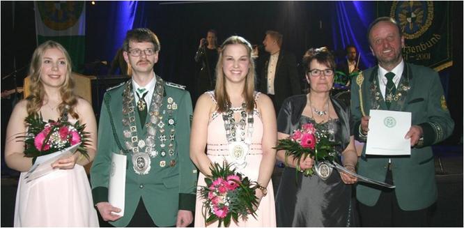 v.l.n.r.: Marie Knust, Markus Hoffmann, Sina Viebrock, Helga Dreyer, Klaus Weghöft (Foto NWDSB)