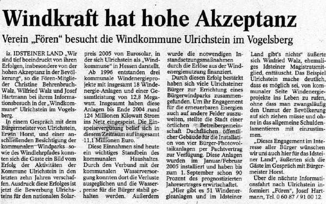 Windkraft hat in Ulrichstein im Vogelsberg hohe Akzeptanz