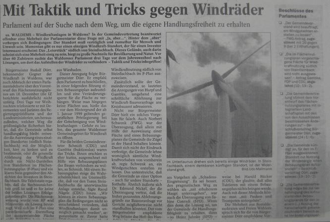 Mit Taktik und Tricks gegen Windkraft