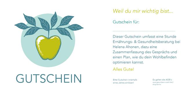 Gutschein Ernährungsberatung, vegan, Berlin, Gesundheit schenken