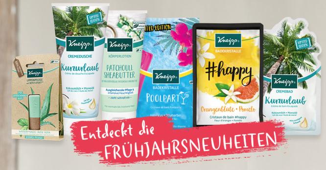 Kneipp Neuheiten Frühjahr 2019 - kneipp.com