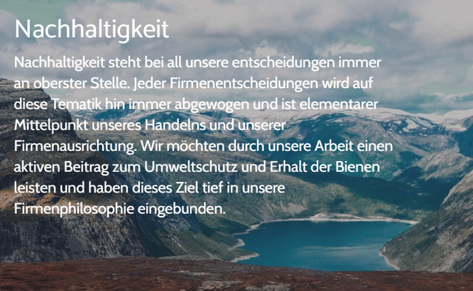 Quelle/Zitat: hanse-honig.shop - Nachhaltigkeitsphilosophie