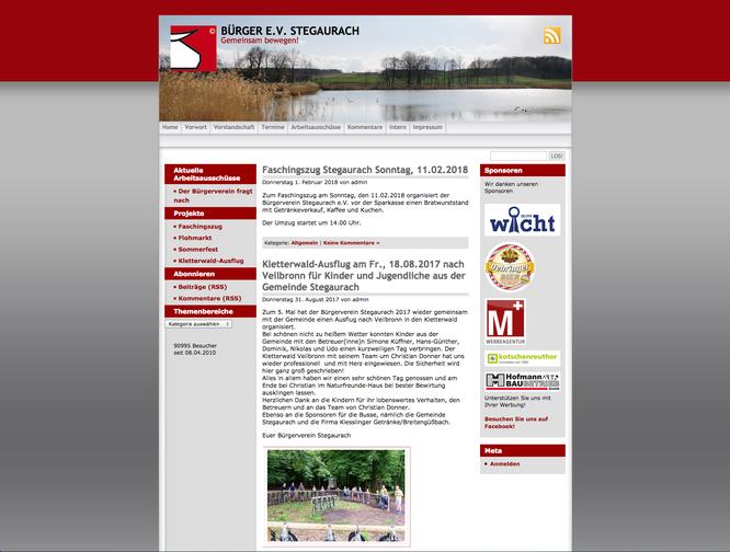 Das war unsere alte Website