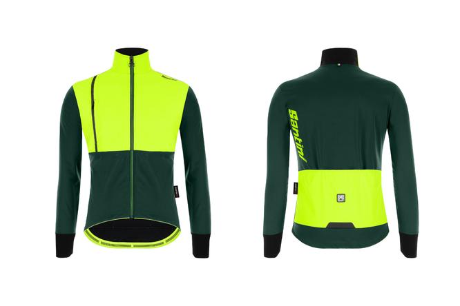 Das Vega Absolute Jacket von Santini setzt auf Polartec Power Shield Pro – die ultimative Stofftechnologie für intensive Aktivitäten unter extremen Bedingungen