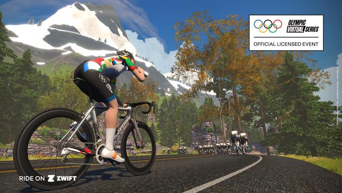 In der offiziellen Olympic Virtual Series virtuell an der Seite von Olympioniken fahren