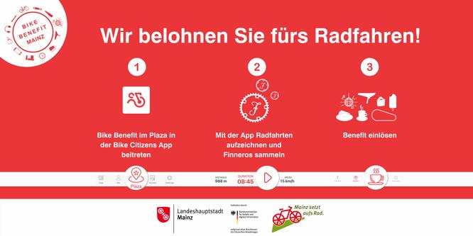 Radfahren in Mainz wird belohnt