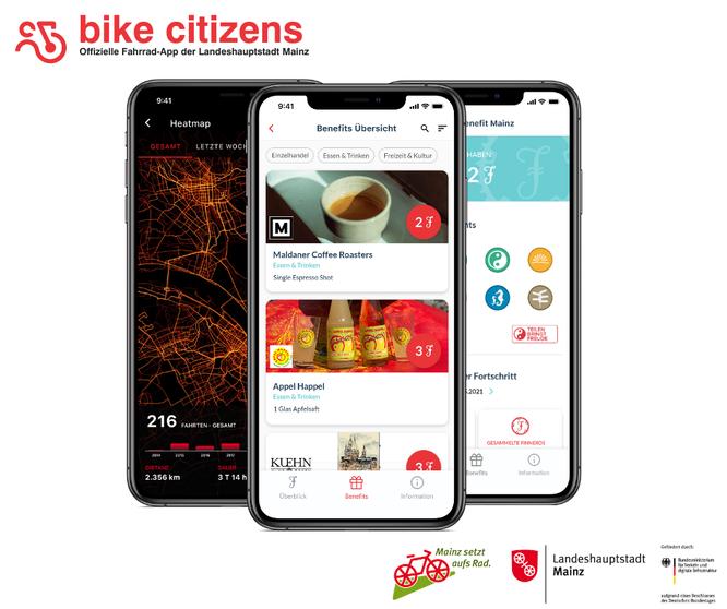 Offizielle Fahrrad-App der Landeshauptstadt Mainz, Bike Citizens