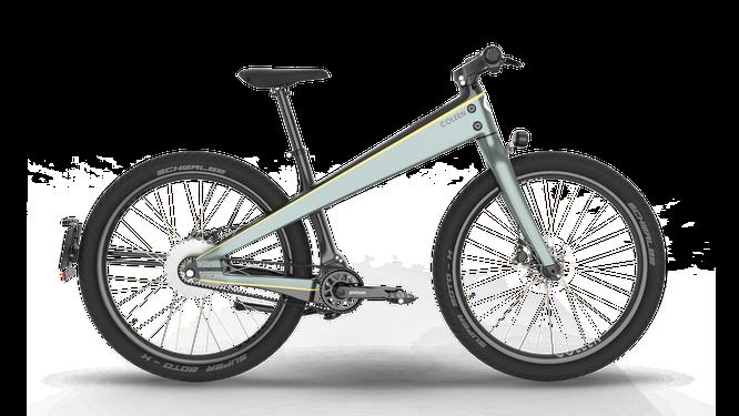 Modern zeigt sich die französischen Marke Coleen. Das Bike benötigt kein Unterrohr.