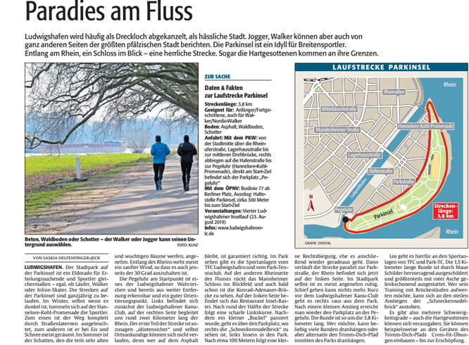DIE RHEINPFALZ, Ludwigshafener Rundschau, 30.03.2019