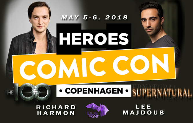 May 5-6, 2018 - Copenhagen, Denmark - Heroes Comic Con - With Richard Harmon and Lee Majdoub.