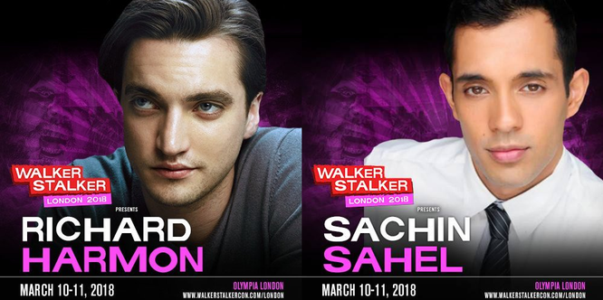Mar 10-11, 2018 - London, England - Walker Stalker - With Richard Harmon and Sachin Sahel.