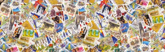 Serviettentechnik mit großen Motiven Motiv Briefmarken