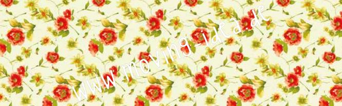 Reispapier für Serviettentechnik in großen Formaten mit verspielten Blüten