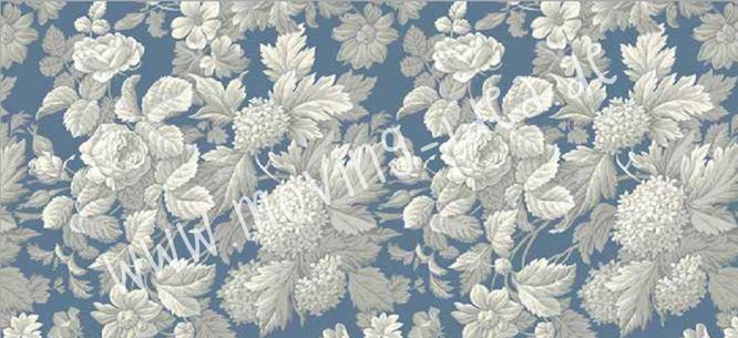 Blumen-Ornamente blau weiß im großen Format für Serviettentechnik