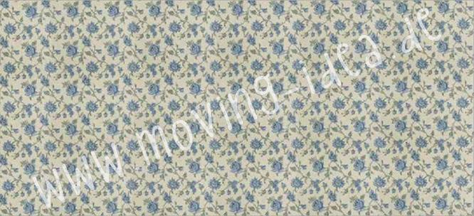 Zarte Blumen in hellblau für Serviettentechnik und Shabby Chic Möbel