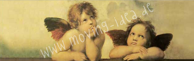 Michelangelo Engel für Serviettentechnik als großes Motiv und im XL Format
