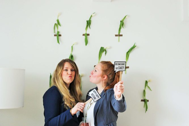 Bild: Photobooth Ideen Ostern, DIY Photoprops Ostern, gefunden auf Partystories.de