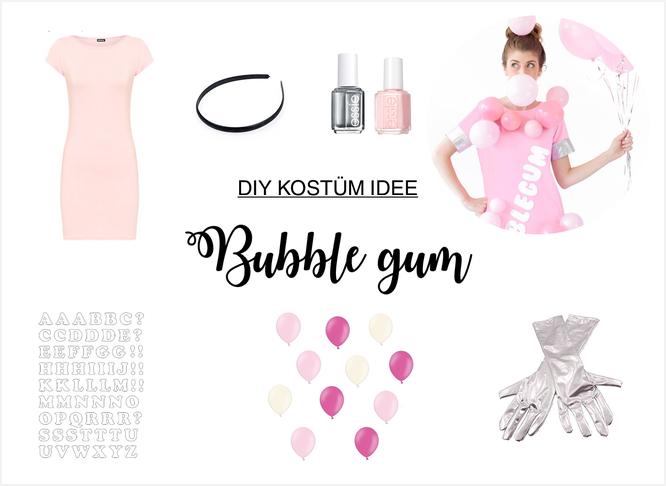 Bild: DIY Kostüm Idee für Karneval, Fasching oder eine Mottoparty selber machen - Kaugummi Automat Kostüm mit Luftballons als bubble;  gefunden auf www.partystories.de