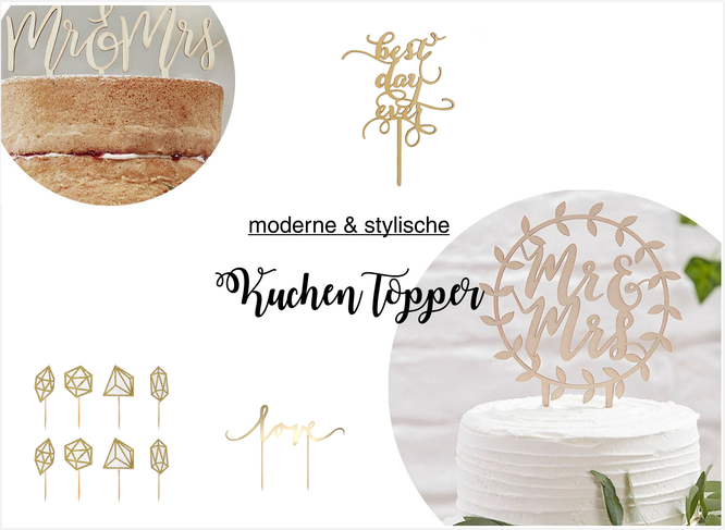 Mit Kuchen Topper Die Hochzeitstorte Dekorieren