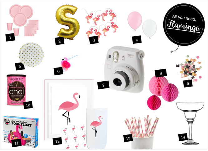 Bild: Ideen für eine Flamingoparty und Shop-the-Look Lieblingen, gefunden auf Partystories.de