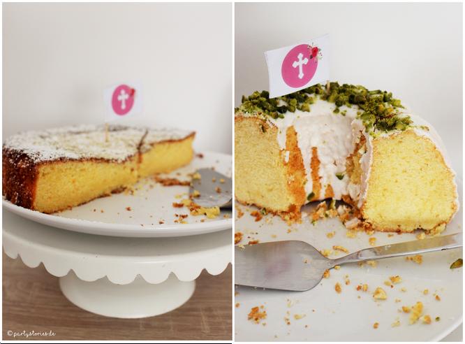 Bild: Kuchen für die Taufe, gefunden auf Partystories.de