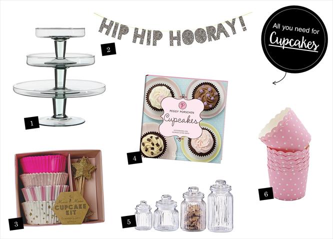 Bild: Ideen für eine Pimp-Your-Cupcake Bar, gefunden auf Partystories.de