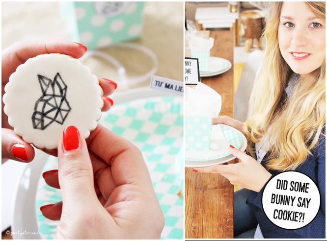 Bild: Ideen für DIY Osterdeko, individuelle Osterkekse von Cook and Cookies, Freebie zum nachmachen inklusive, gefunden auf Partystories.de