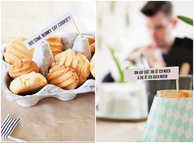 Bild: Ideen für DIY Osterdeko, Kekse ab ins Eierkörbchen, DIY Caketopper, Freebie zum nachmachen inklusive, gefunden auf Partystories.de