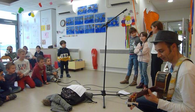 Laurent Reverte Ateliers de création de chansons (Chansons sur mesure) école primaire 2018