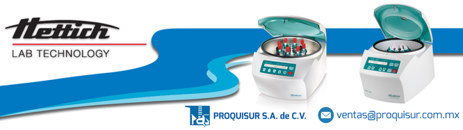 Distribuidor / proveedor de la linea en centrifugas HETTICH en Mexico, CDMX, Area metropolitana.