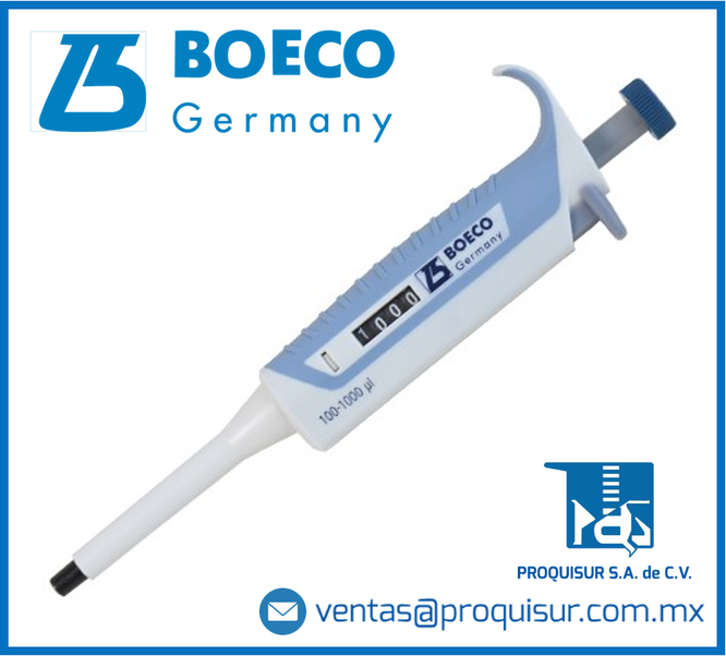 Micropipetas Boeco de volumen fijo y variable