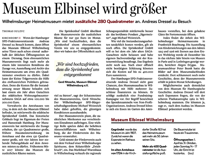 Hamburger Abendblatt 03.08.2016